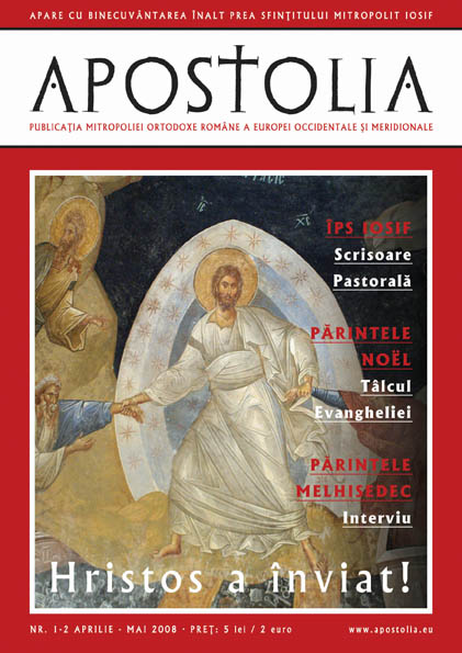 Apostolia, nr. 1, aprilie 2008